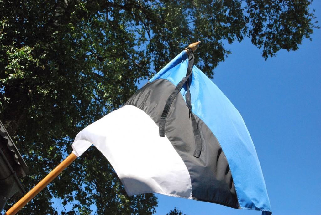 14 juuni on leinapäev, lipud heisatakse leinalintidega või tõmmatakse poolde masti Foto Urmas Saard