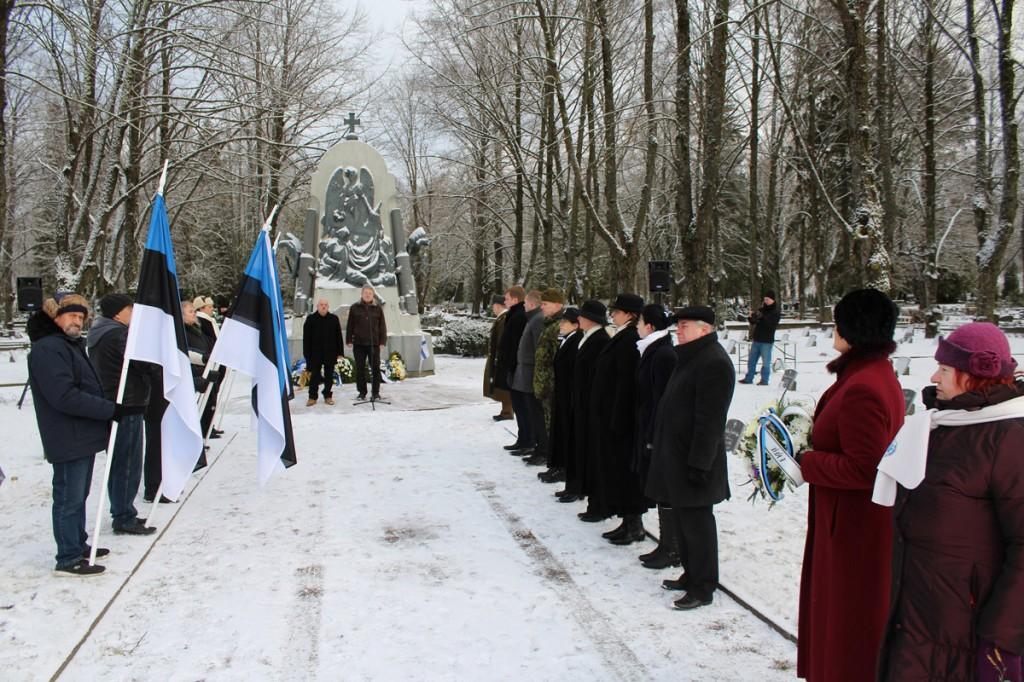 3 jaanuaril Pärnus Alevi kalmistul Foto Lembit Miil