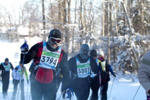 Külm on maratoniüritusi kimbutanud ka varem. Fotol 40. Tartu Maraton 2011.