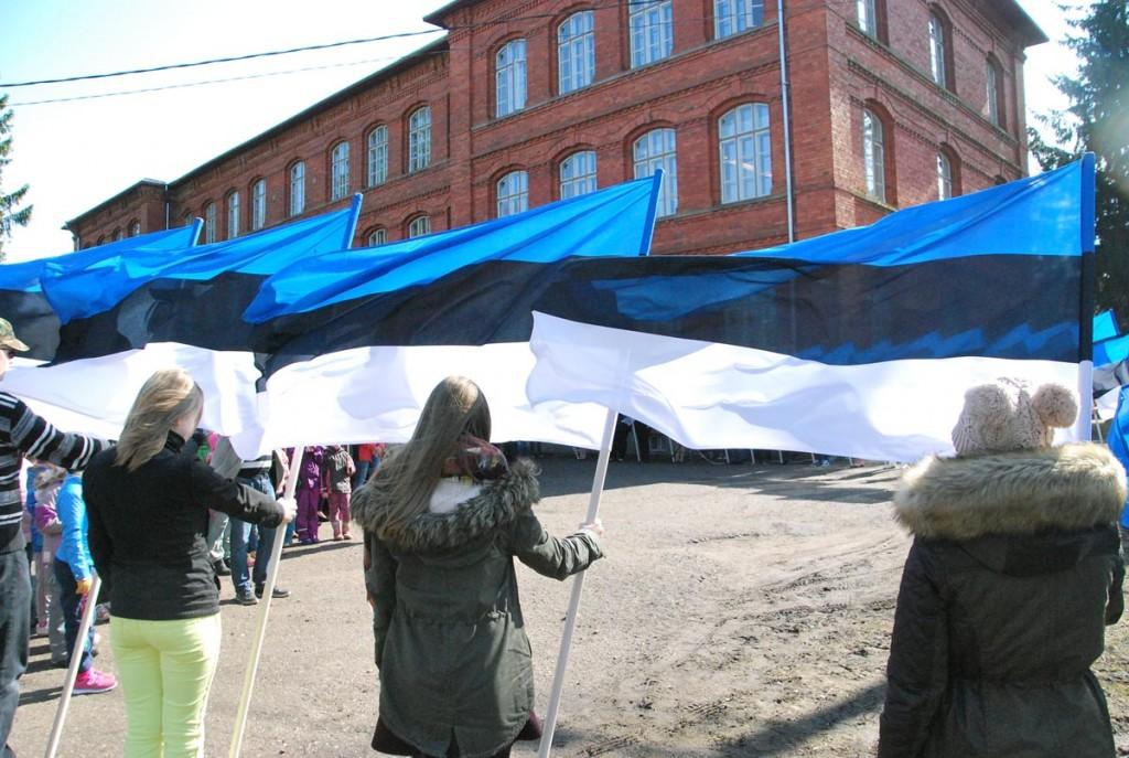 8 aprillil Sindi gümnaasiumi juures Julius Friedrich Seljamaa 133 sünniaastapäeva tähistamine Foto Urmas Saard
