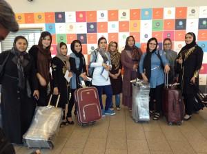 Afganistani ämmaemandad Tallinna lennujaamas. Foto: Maari Ross/MTÜ Mondo