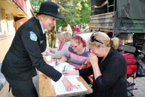 Anneli Rabbi, Naiskodukaitse Pärnumaa ringkonna aseesinaine Foto Urmas Saard