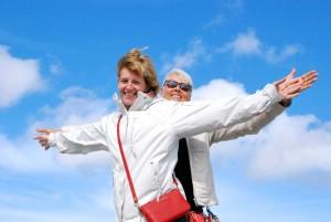 Annely ja Reet  Sääretirbi kohal lendamas Foto Urmas Saard