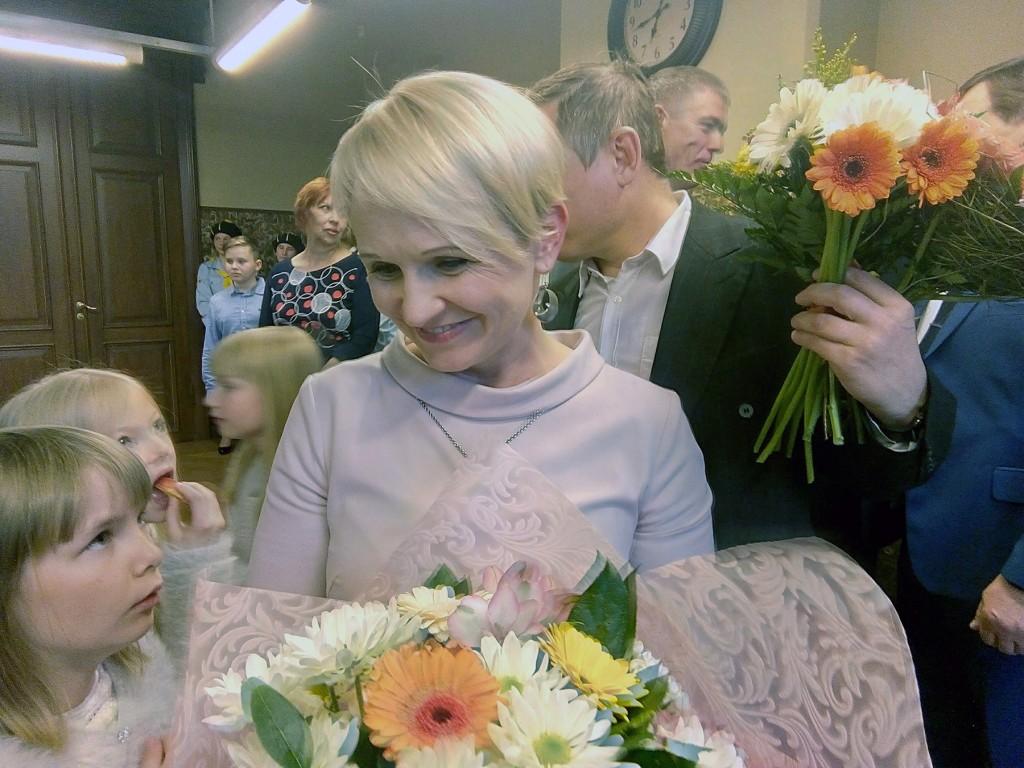 Annika Oras, Jõgevamaa Aasta ema tunnustamise tseremoonial. Foto Jaan Lukas