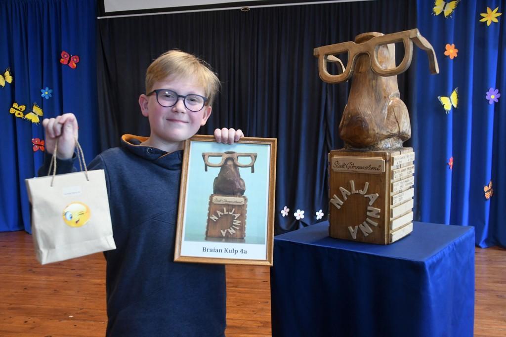 Braian Kulp, Naljanina 2019 suure auhinna võitja. Foto Urmas Saard