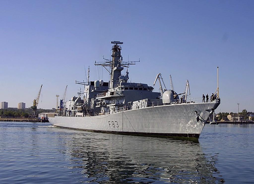 Briti Kuningliku Mereväe fregatt HMS St Albans. Foto Kaitseväe kodulehelt