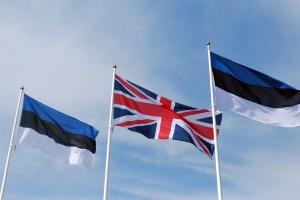 Briti ja Eesti lipud Foto Urmas Saard