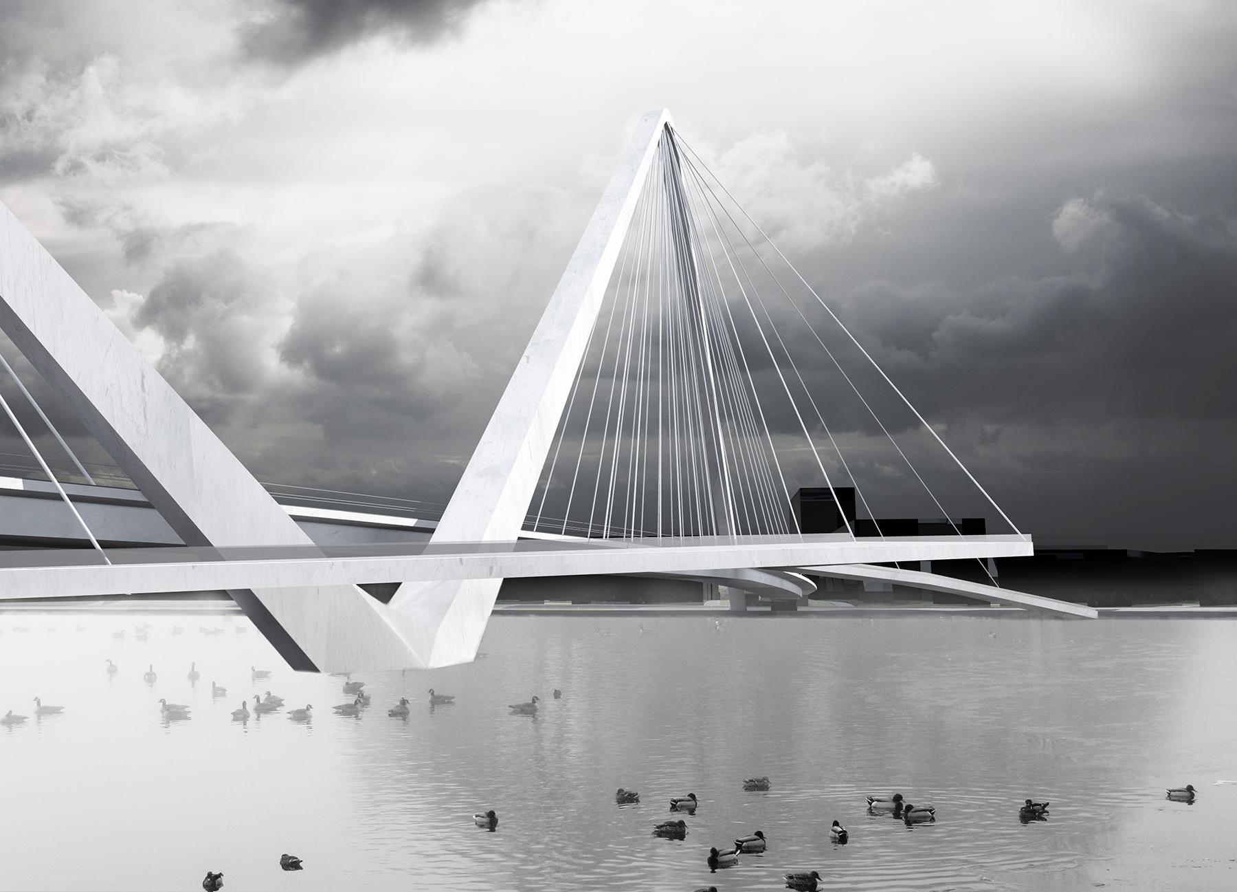 Britt Vaheri 3D visualiseering Pärnu kolmandast sillast
