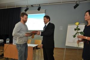 Tänumeene aktiivse terviseedenduse eest pälvis Jaanus Kala Antsla vallast.