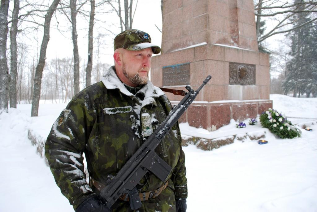 Eesti Vabariigi esimese presidendi mälestamine Tahkurannas Konstantin Pätsi ausamba juures Foto Urmas Saard