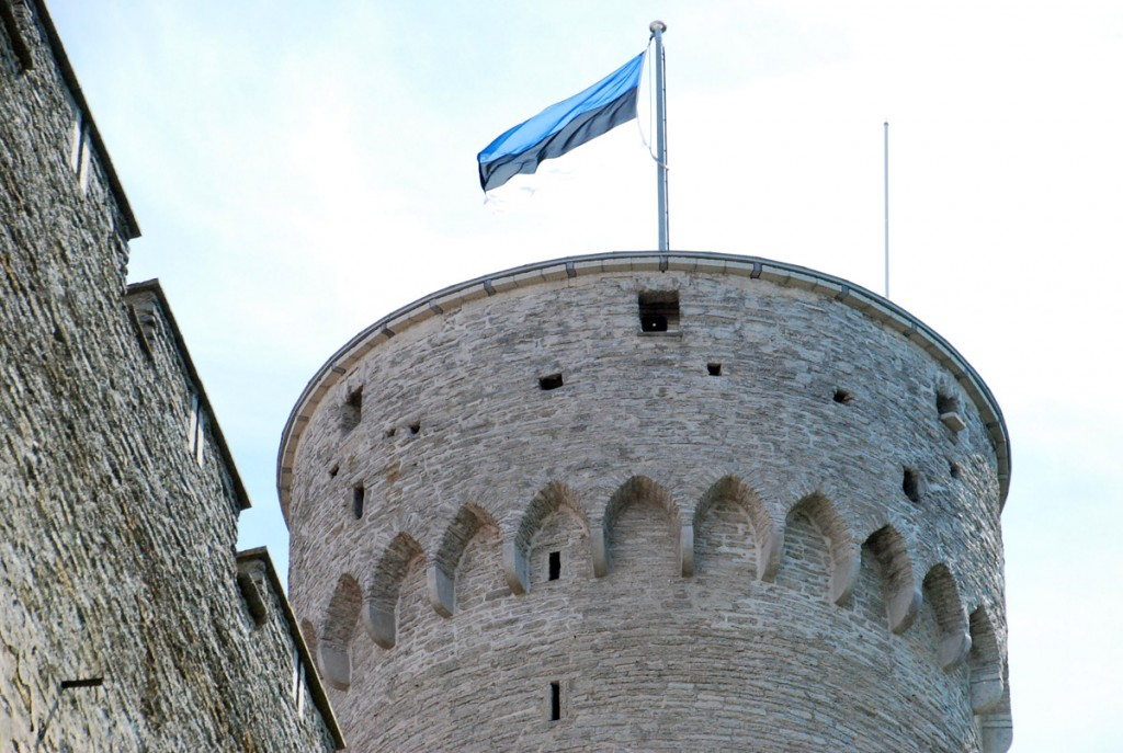 Eesti lipp Pika Hermanni tornis Foto Urmas Saard