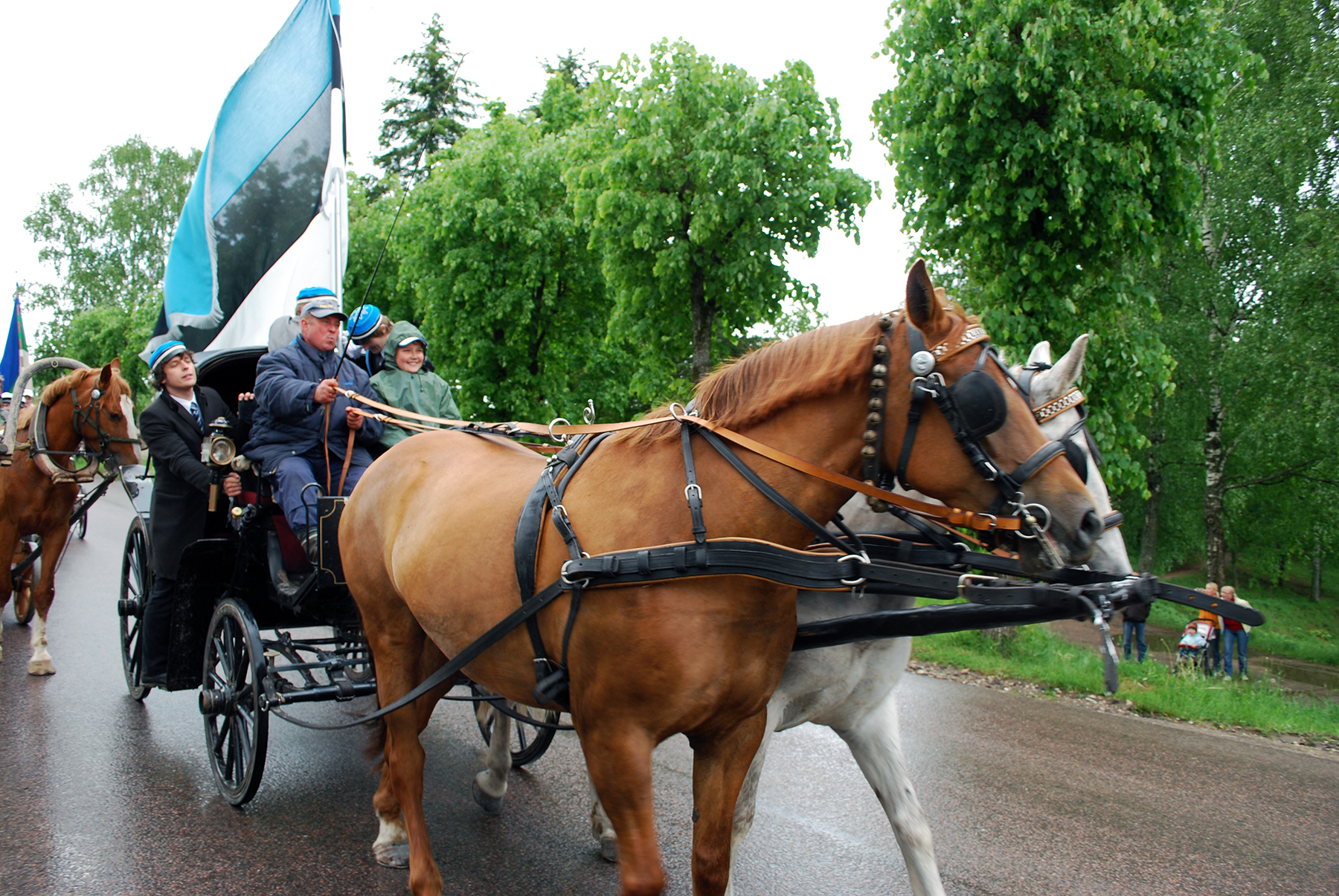 Eesti lipu 125. sünnipäeva tähistamine Otepääl 2009. aastal. Foto Urmas Saard