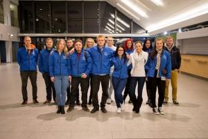 Eesti meeskond Tallinna Lennujaamas enne võistlustele sõitu.