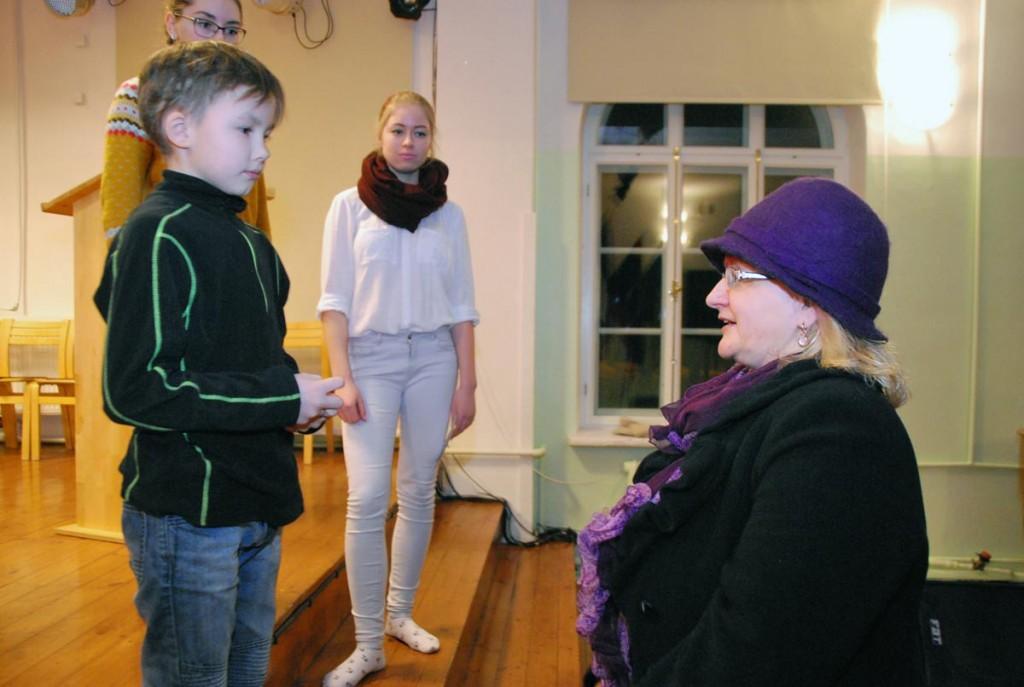 Eneli Arusaar julgustab Anttit veelgi julgemalt esinema Foto Urmas Saard