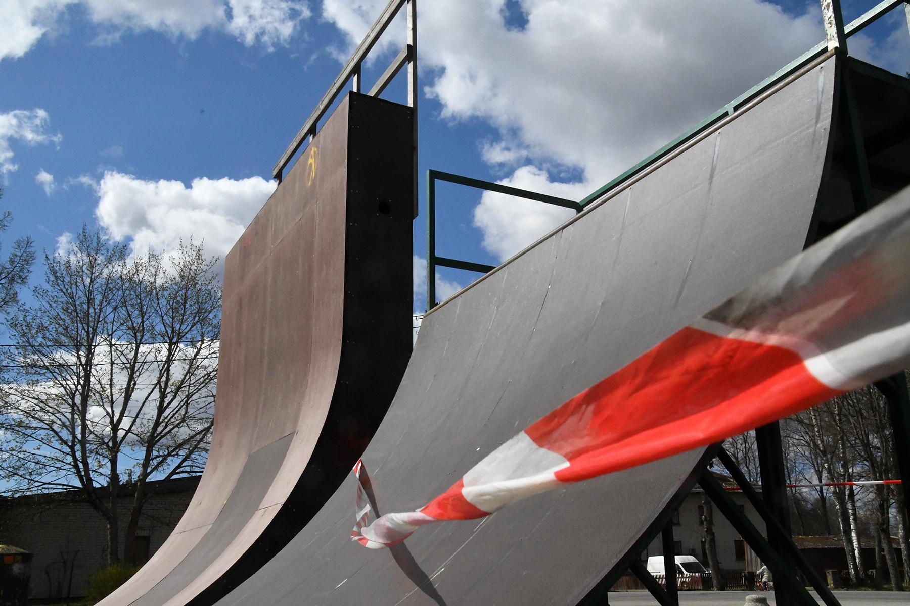 Eriolukorras suletud Sindi skatepark. Foto: Urmas Saard