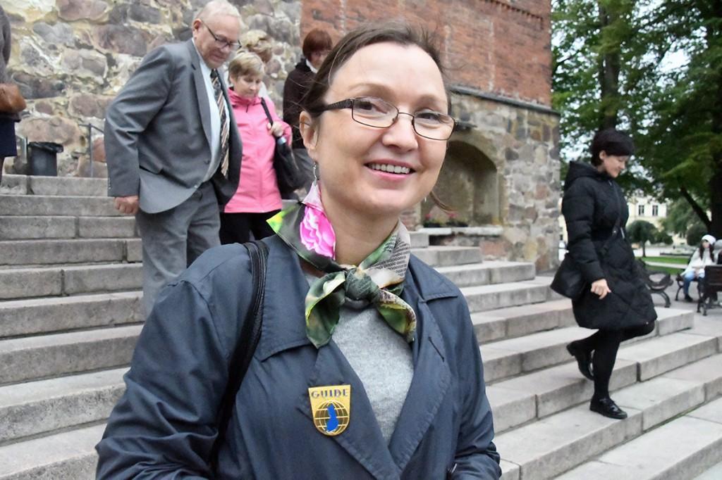 Eva Finch, giid ja tõlkija, kelle jutustused Soomest ja Turust  on huvitavad Foto Urmas Saard