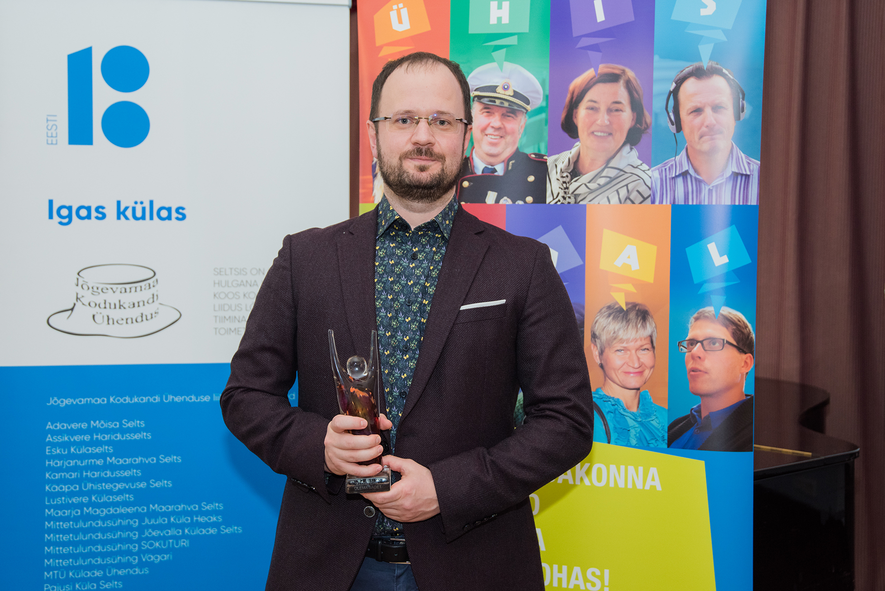 Hannes Soosaar, Jõgevamaa Sädeinimene 2019. Foto Liina Laurikainen