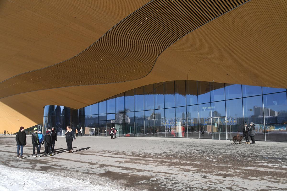 Helsingi uus keskraamatukogu – Oodi. Foto Urmas Saard