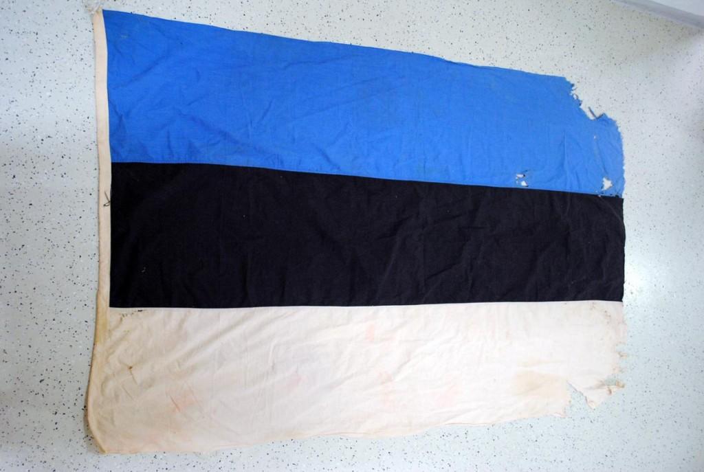 Hendrik Hiibuse sinimustvalge lipp Helmut Aasamäe isiklikus kogus