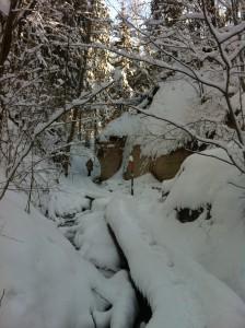 Valge talv Rõuges Hinni orus.