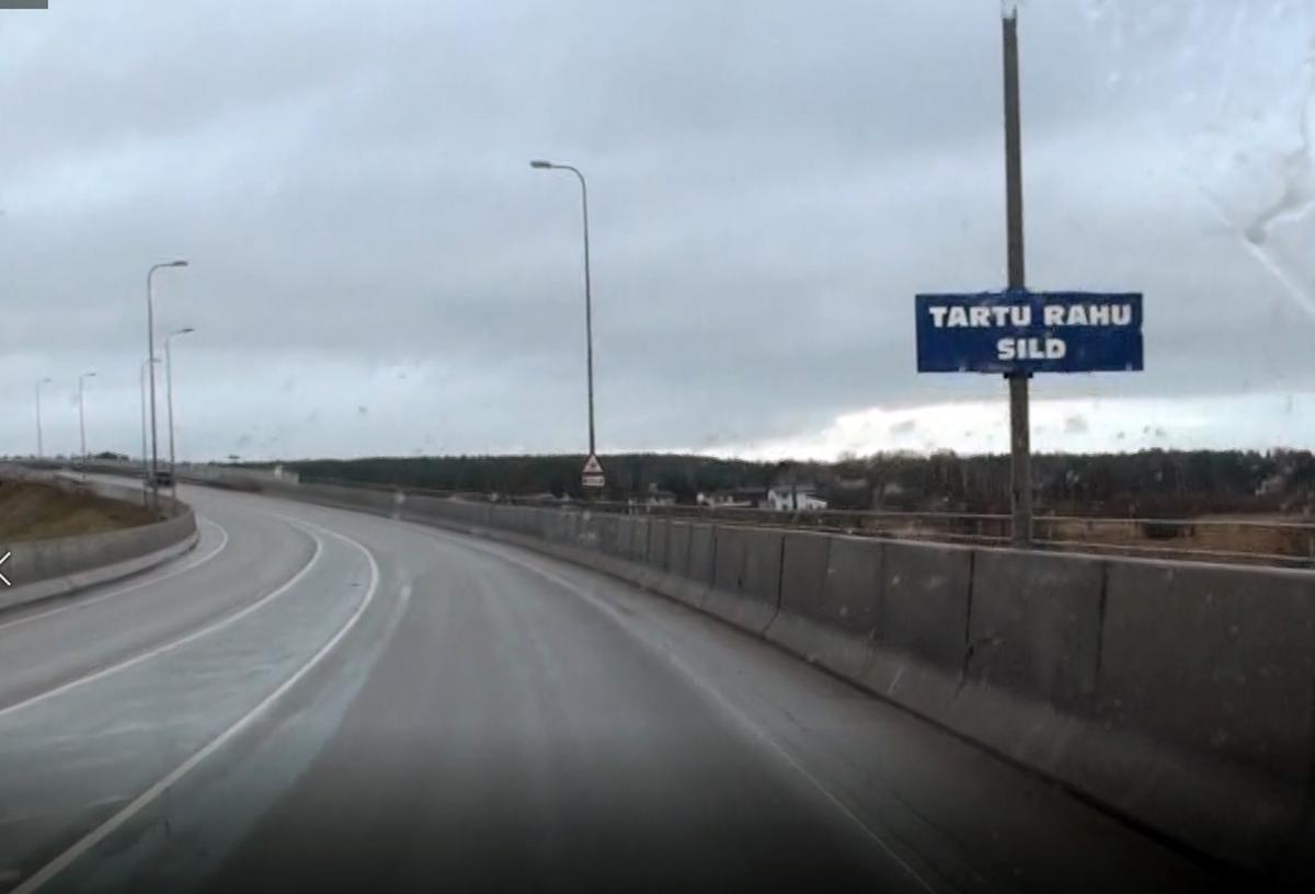 Ihaste sillast on üleöö saanud TARTU RAHU SILD 02.02.2020. Lugeja saadetud foto