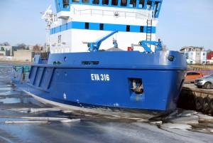 Jäämurdja Eva 316 Pärnu sadamas 2014 a märtsi keskpaigas Foto Urmas Saard