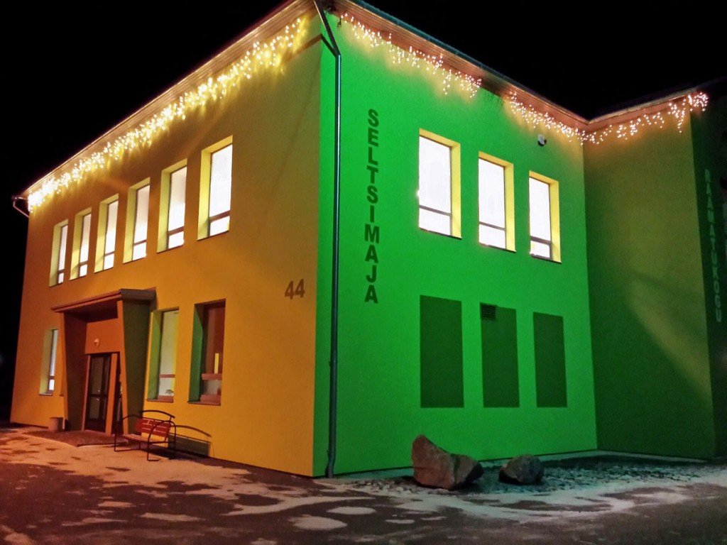 Jõuluaegne Sindi seltsimaja Foto Marko Šorin