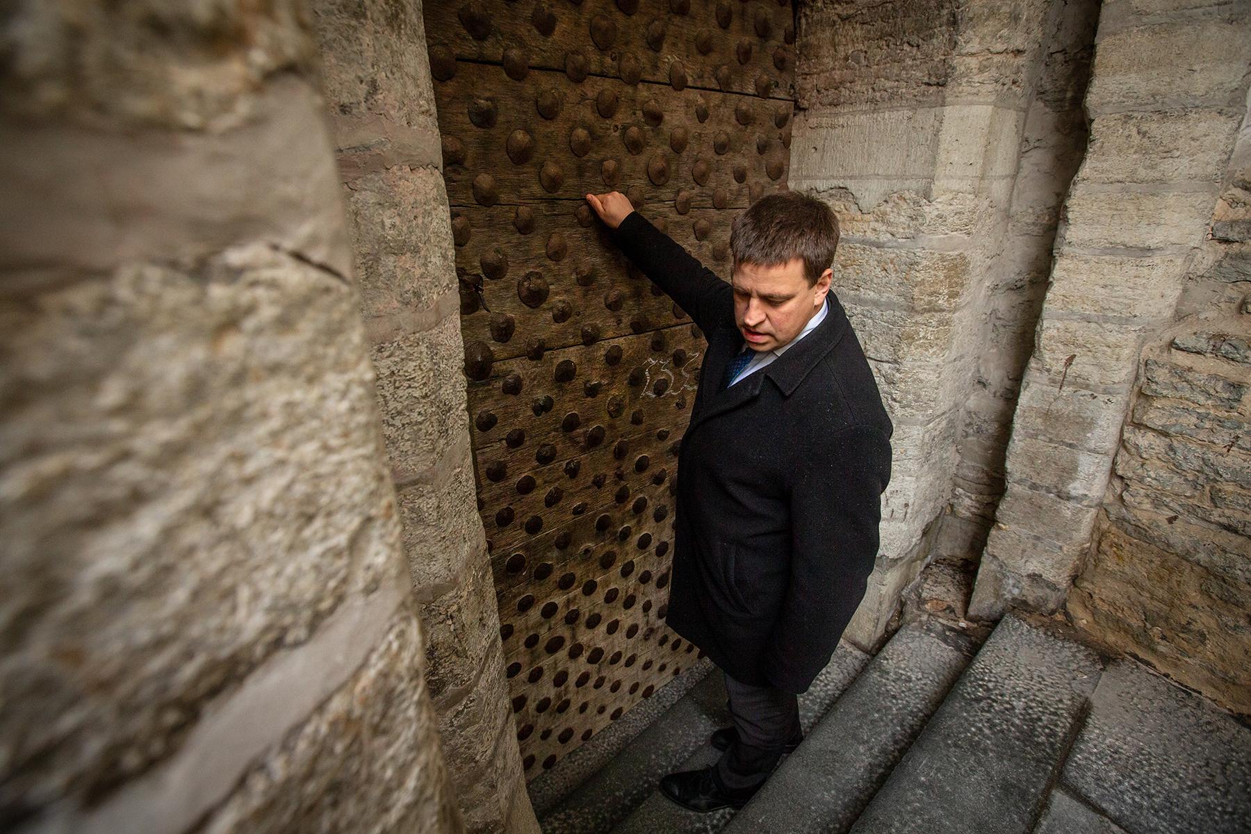 Jüri Ratas Tallinna päeva puhul toimunud traditsioonilisel all- ja ülalinna kohtumisel.  Foto: Raul Mee  / riigikantselei