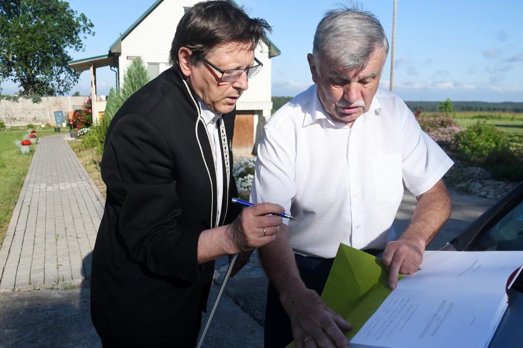 Jüri Trei ja Māris Niklass. Foto Urmas Saard