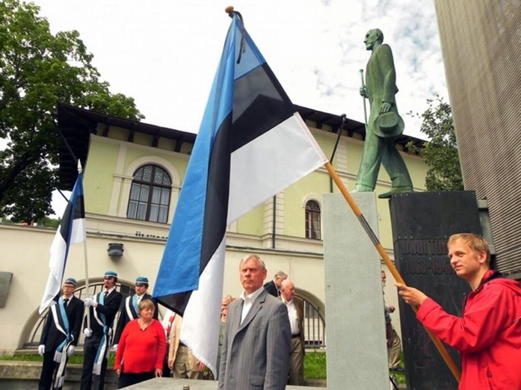 Jaan Tõnissoni mälestamine 2012 a 3 juulil Tartus Foto Peeter Talvar