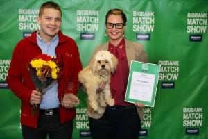 Aasta kõige koerasõbralikuma teo projektis kaasa löönud Julija Abram ja Tanel Mootse. Foto: Peeter Hütt
