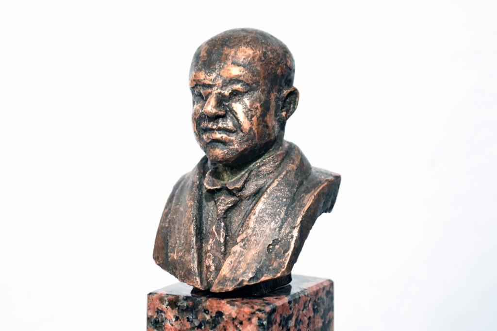 Julius Friedrich Seljamaa büsti makett, valmistaja Ülo Kirt Foto Urmas Saard