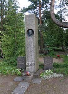 Julius Seljamaa hauasammas Rahumäe kalmistul Arhitekt Karl Lüüs, kujur Ferdi Sannamees Foto Vikipeediast
