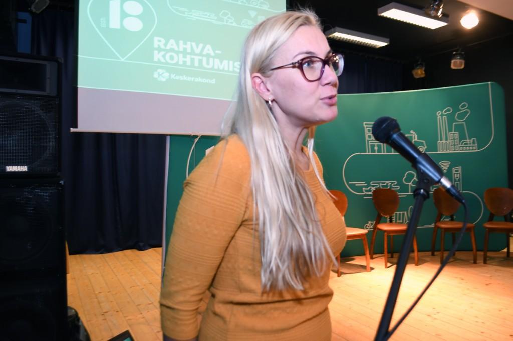 Kadri Simson, majandus- ja taristuminister, Sindis Foto Urmas Saard