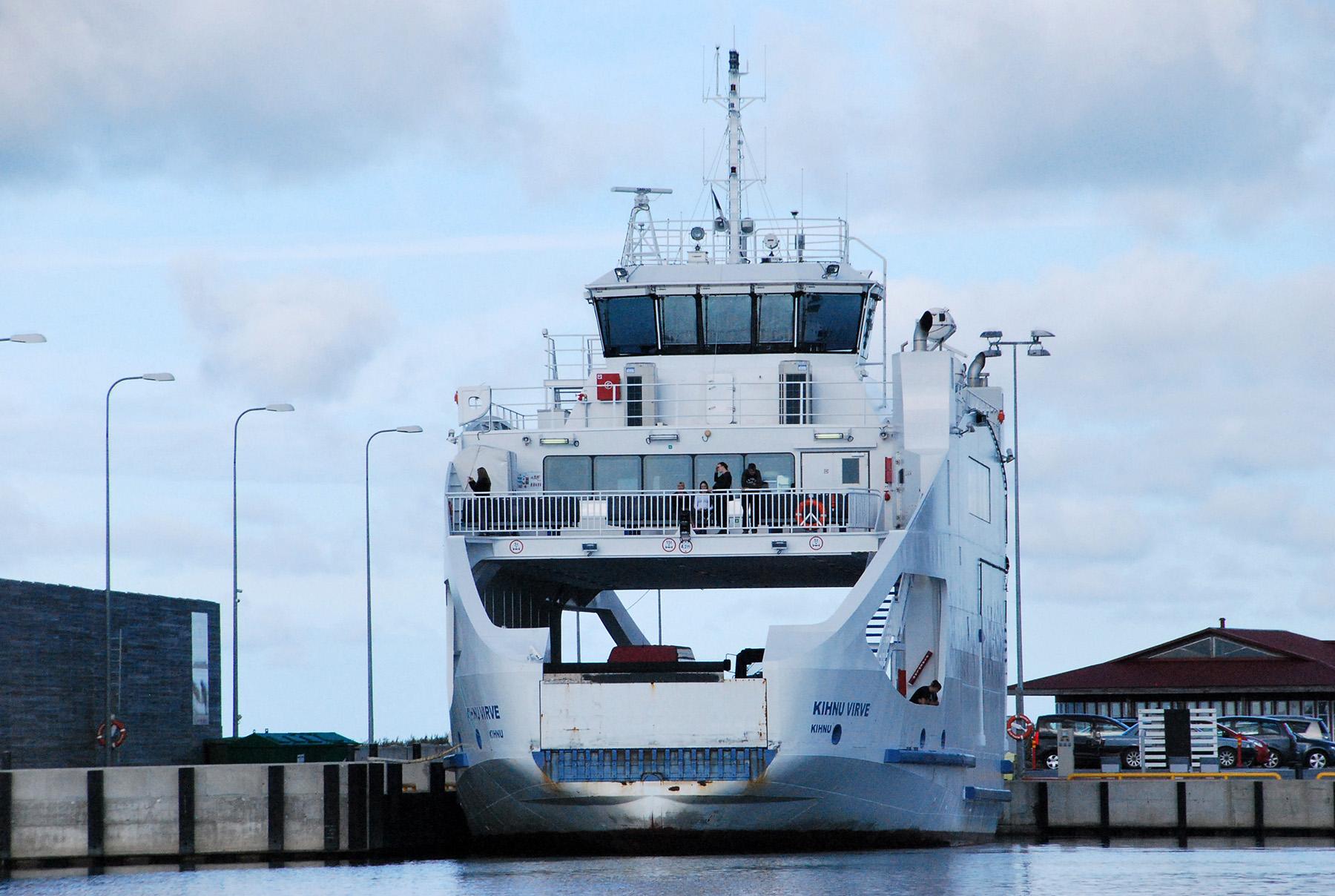 Kihnu Virve Munalaiu sadamas. Foto: Urmas Saard  / Külauudised