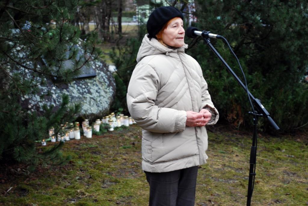 Kirsti Portnov Pärnu Leinapargis Foto Urmas Saard