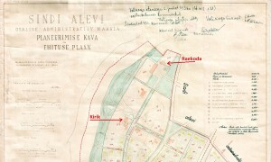 Kolmekümnendate Sindi alevi osaline planeering Sindi linnavalitsuse arhiivist