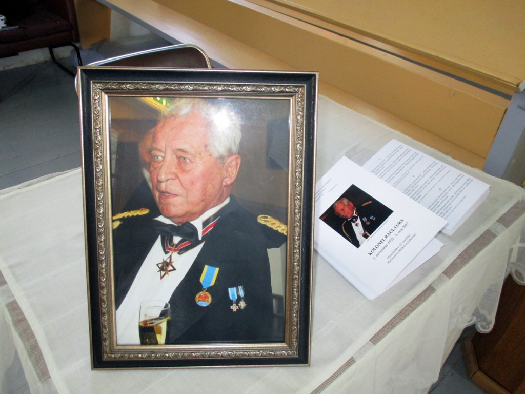 Kolonel Raul Luks (1 november 1932 – 6 mai 2017) Foto Tiina Tojak