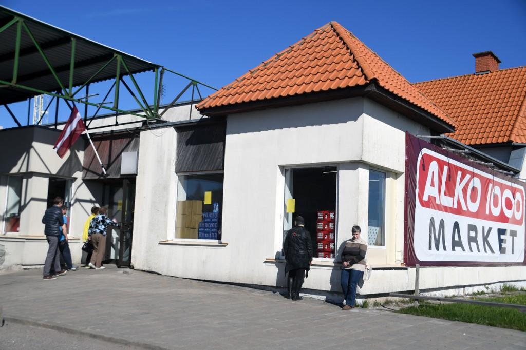 Kunagine AinažiIkla piiripunkti hoone alkomarekti kasutuses Foto Urmas Saard