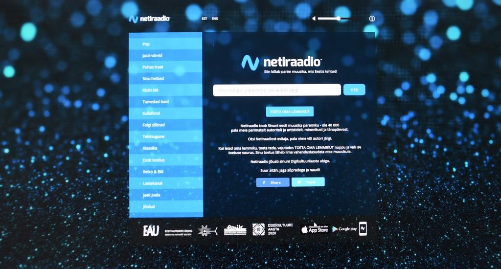 Kuvatõmmis Netiraadio veebist