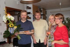 Läänemaa aasta isa 2014 Toomas Räli perega.