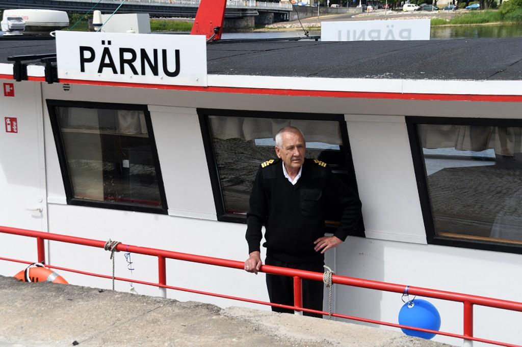 Laeva Pärnu kapten Tiit Tõniste Foto Urmas Saard