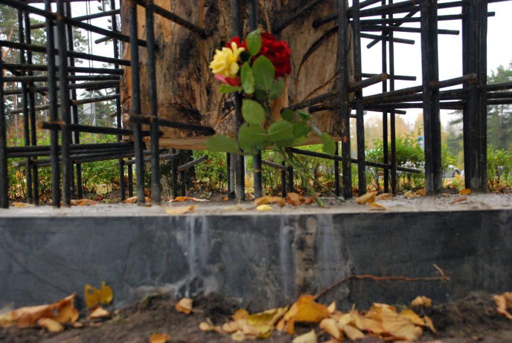 Lilled Tšornobõlis käinud meestele Foto Urmas Saard