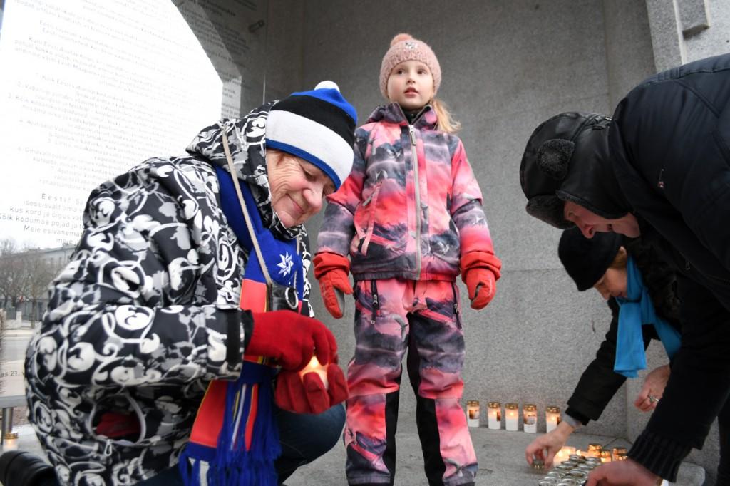 Märtsiküüditamise 69 mälestuspäeval Pärnus Foto Urmas Saard