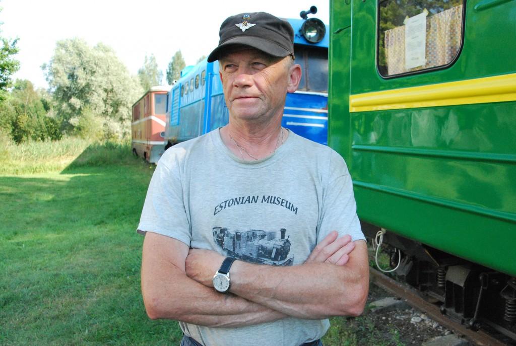 Mehis Helme, Eesti Muuseumraudtee MTÜ esimees. Foto Urmas Saard