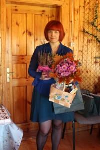 Merje Ottson tunnustusüritusel Assikvere seltsimajas. Foto: Pille Tutt