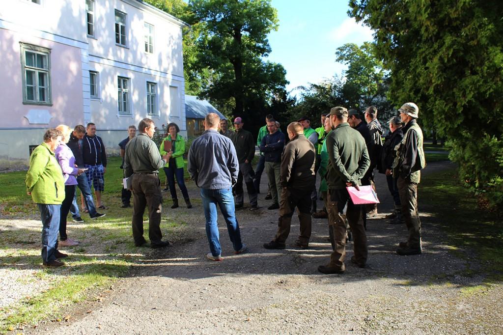 Metsameistrid valmistuvad kutsemeisterlikusevõistlusteks Foto Luua metsanduskool