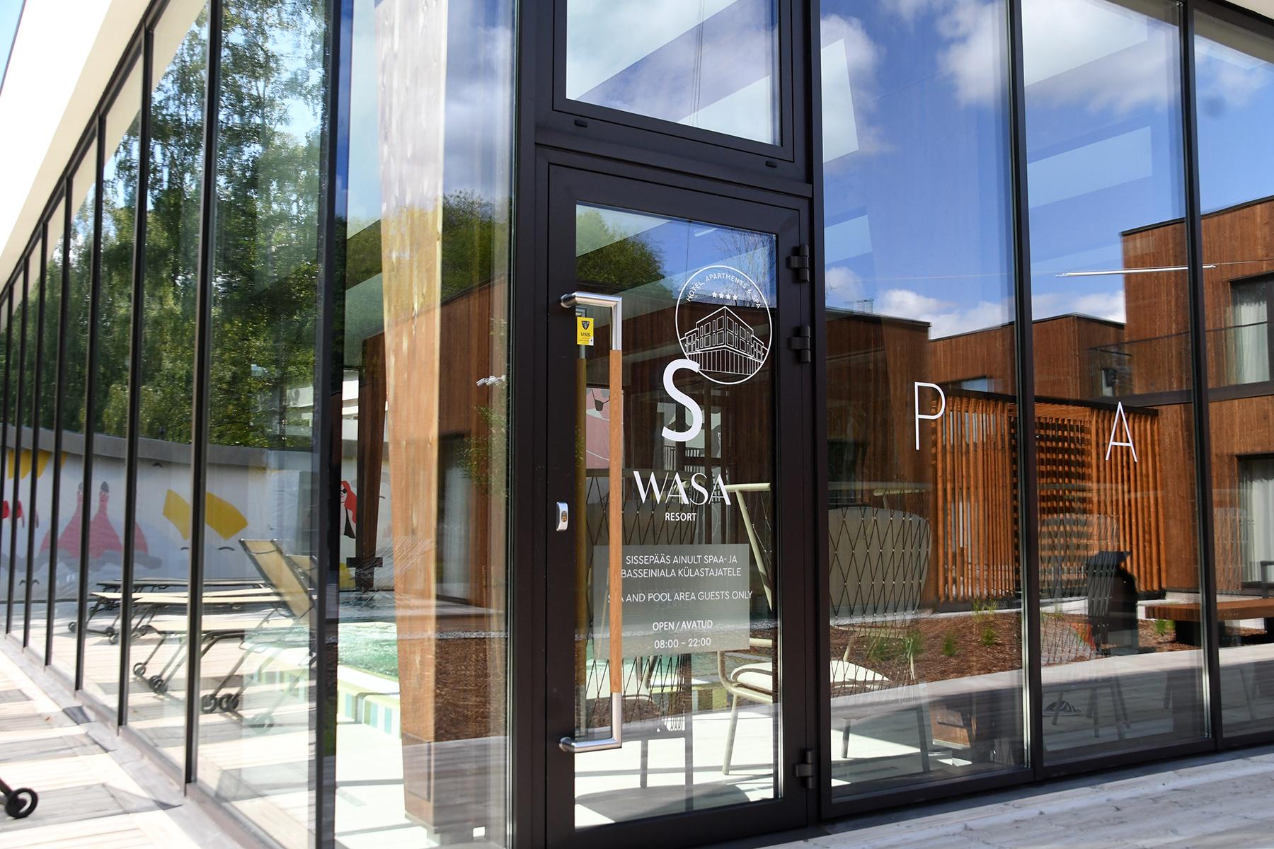 Mitmekülgselt uudsete arhitektuuriliste lahenduste ja uuendusliku teenindusega Wasa Resort spaahotell Pärnus. Foto Urmas Saard