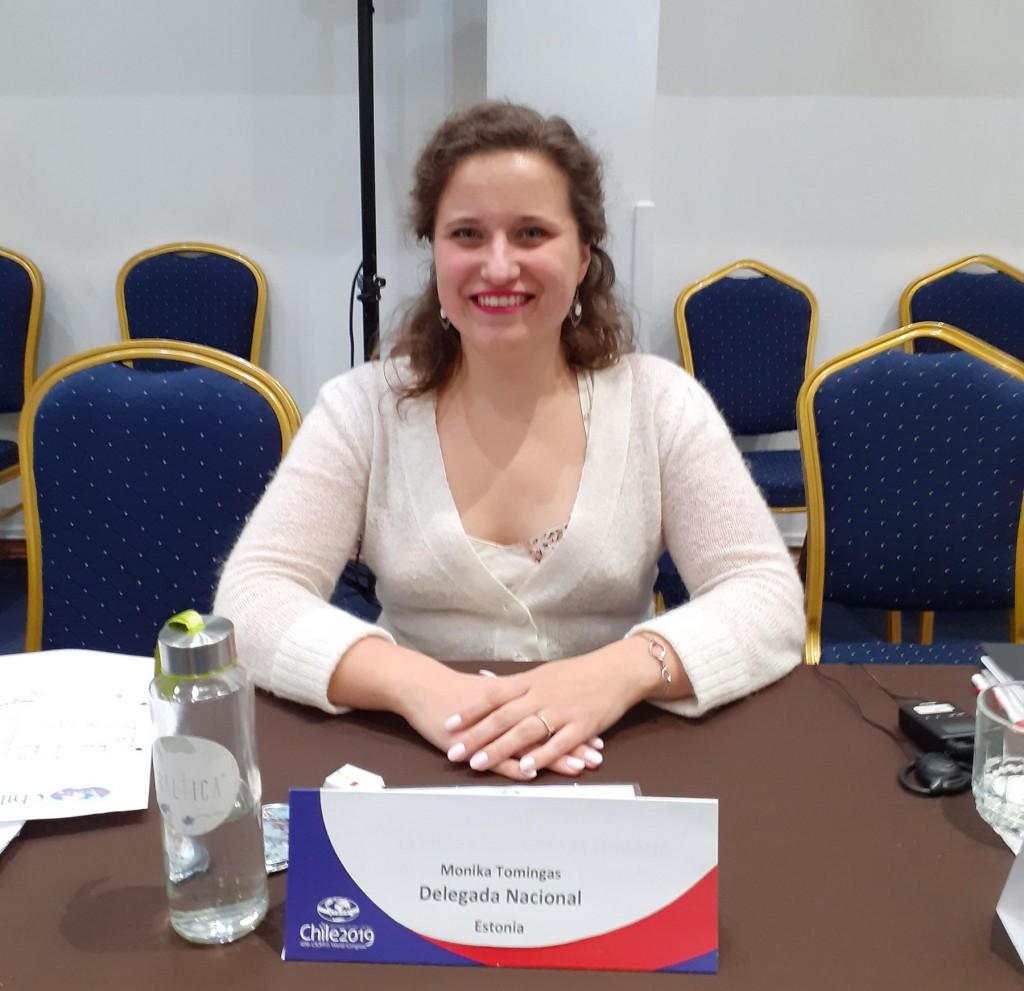 Monika Tomingas, CIOFFi kultuurikomisjoni juht. Foto CIOFF 2019