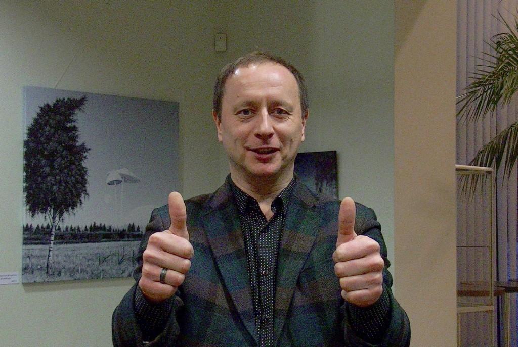 Navitrolla näituse avamisel Jõgeva kultuurikeskuses. Foto: Johannes Haav